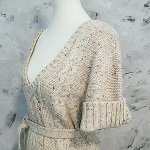 a.n.a Sweaters - A.N.A. Warm & Cozy Muted Tan Speckled Knit Sweater